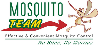 mark for MOSQUITO TEAM EFFECTIVE & CONVENIENT MOSQUITO CONTROL NO BITES, NO WORRIES, trademark #85573540
