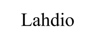 mark for LAHDIO, trademark #85573677