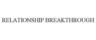 mark for RELATIONSHIP BREAKTHROUGH, trademark #85574064