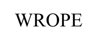 mark for WROPE, trademark #85574674