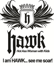 mark for H HAWK HOT ASS WOMAN WITH KIDS I AM HAWK...SEE ME SOAR!, trademark #85575681