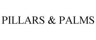 mark for PILLARS & PALMS, trademark #85576276