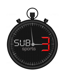 mark for SUB 3 SPORTS, trademark #85576430