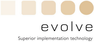 mark for EVOLVE SUPERIOR IMPLEMENTATION TECHNOLOGY, trademark #85576678