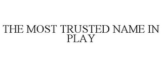 mark for THE MOST TRUSTED NAME IN PLAY, trademark #85576942
