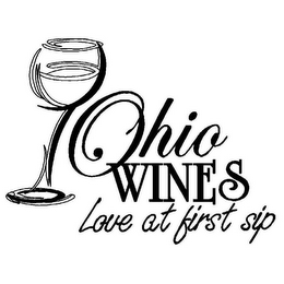 mark for OHIO WINES LOVE AT FIRST SIP, trademark #85577408