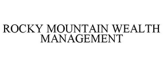 mark for ROCKY MOUNTAIN WEALTH MANAGEMENT, trademark #85578856