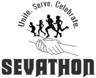 mark for SEVATHON UNITE. SERVE. CELEBRATE., trademark #85579812