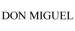 mark for DON MIGUEL, trademark #85580011