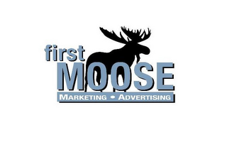 mark for FIRST MOOSE MARKETING · ADVERTISING, trademark #85581581