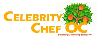 mark for CELEBRITY CHEF OC BENEFITING COMMUNITY SENIORSERV, trademark #85582033