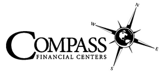 mark for COMPASS FINANCIAL CENTERS N W E S, trademark #85582075