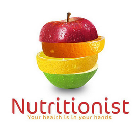 mark for NUTRITIONIST YOUR HEALTH IN YOUR HANDS, trademark #85582887