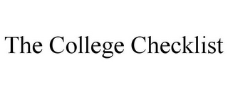mark for THE COLLEGE CHECKLIST, trademark #85583090