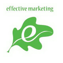 mark for E EFFECTIVE MARKETING, trademark #85583186