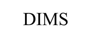 mark for DIMS, trademark #85583419
