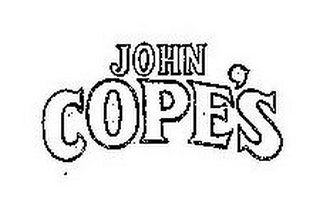 mark for JOHN COPE'S, trademark #85583684