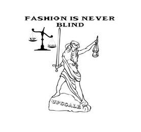 mark for FASHION IS NEVER BLIND UPSCALE UP SCALE, trademark #85584180