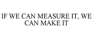 mark for IF WE CAN MEASURE IT, WE CAN MAKE IT, trademark #85584420