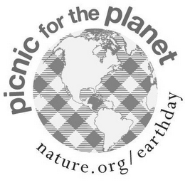 mark for PICNIC FOR THE PLANET NATURE.ORG/EARTH DAY, trademark #85585341