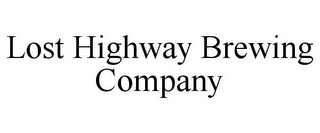 mark for LOST HIGHWAY BREWING COMPANY, trademark #85585547