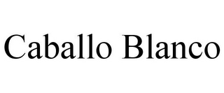 mark for CABALLO BLANCO, trademark #85585837