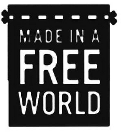 mark for MADE IN A FREE WORLD, trademark #85586358