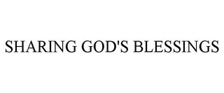 mark for SHARING GOD'S BLESSINGS, trademark #85586999