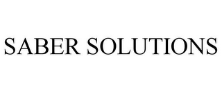 mark for SABER SOLUTIONS, trademark #85587097