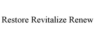 mark for RESTORE REVITALIZE RENEW, trademark #85587120
