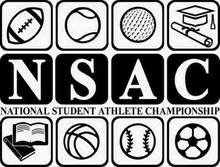 mark for NSAC NATIONAL STUDENT ATHLETE CHAMPIONSHIP, trademark #85587995