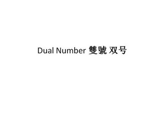 mark for DUAL NUMBER, trademark #85589037