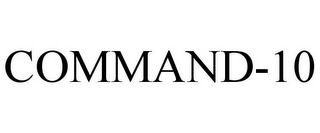 mark for COMMAND-10, trademark #85589779