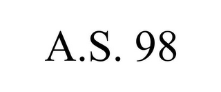 mark for A.S. 98, trademark #85590145