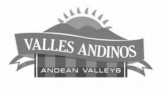 mark for VALLES ANDINOS ANDEAN VALLEYS, trademark #85590573