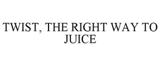 mark for TWIST, THE RIGHT WAY TO JUICE, trademark #85590604