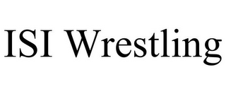 mark for ISI WRESTLING, trademark #85590998