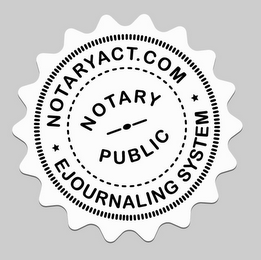 mark for NOTARYACT.COM NOTARY PUBLIC EJOURNALING SYSTEM, trademark #85591205