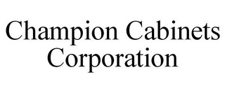 mark for CHAMPION CABINETS CORPORATION, trademark #85591237