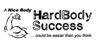 mark for HARDBODY SUCCESS A NICE BODY ...COULD BE EASIER THAN YOU THINK., trademark #85591400