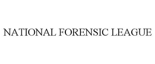 mark for NATIONAL FORENSIC LEAGUE, trademark #85592213