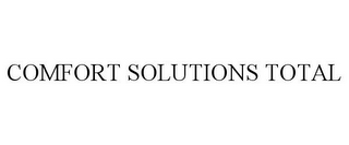 mark for COMFORT SOLUTIONS TOTAL, trademark #85592356