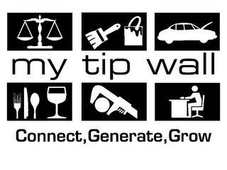 mark for MY TIP WALL CONNECT, GENERATE, GROW, trademark #85593248