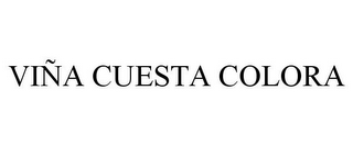mark for VIÑA CUESTA COLORA, trademark #85593549
