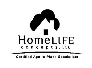 mark for HOMELIFE CONCEPTS, LLC CERTIFIED AGE IN PLACE SPECIALISTS, trademark #85593889