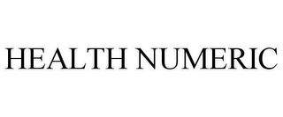 mark for HEALTH NUMERIC, trademark #85594012