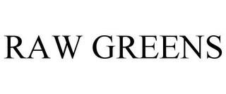 mark for RAW GREENS, trademark #85595149