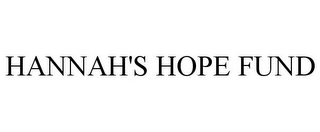 mark for HANNAH'S HOPE FUND, trademark #85595157