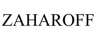 mark for ZAHAROFF, trademark #85595780