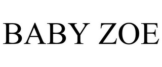 mark for BABY ZOE, trademark #85595945